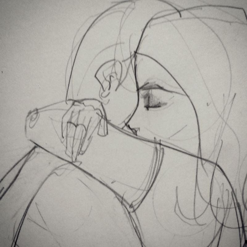 Boceto abrazo