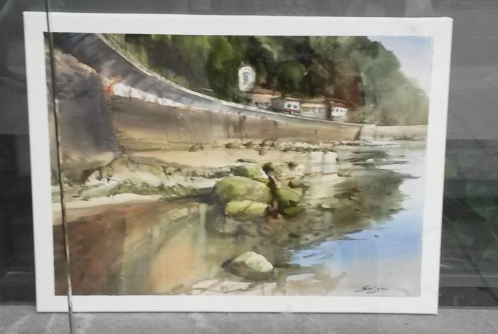 Carlos Espiga 3er lugar XLIX Concurso de pintura - Zarautz