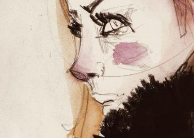 Dibujo a lápiz y tintas