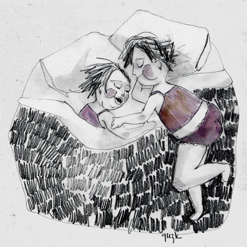 Nenas durmiendo