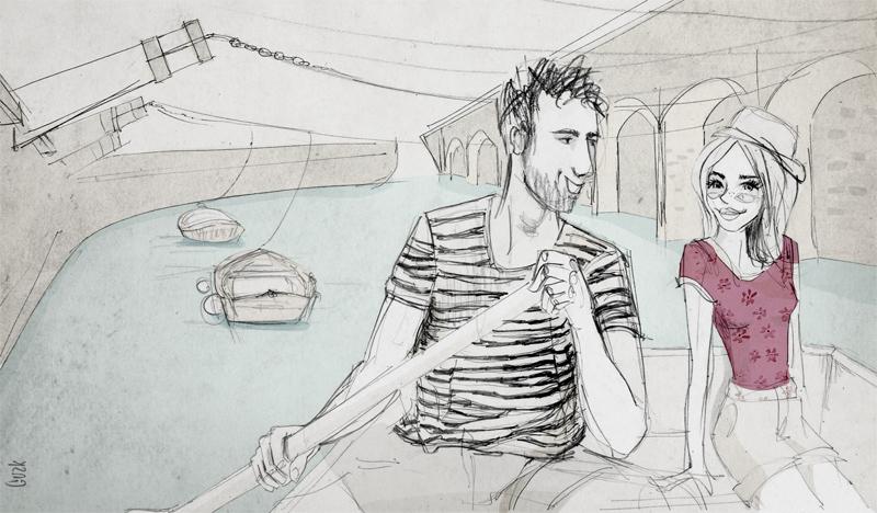Ilustración realizada para informar sobre las vacaciones de Otzarreta